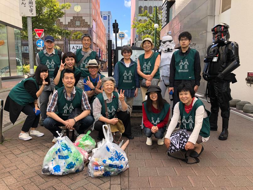 【出撃レポート】9月1日 green bird札幌支部 街の清掃お手伝い